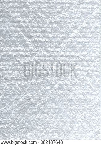 White Abstract Texture. Light Background From Pimples. Package Material. Pimple Material For Packing