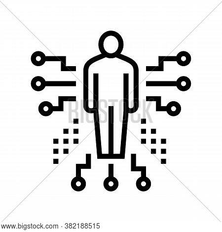 Human Characteristics Line Icon Vector. Human Characteristics Sign. Isolated Contour Symbol Black Il