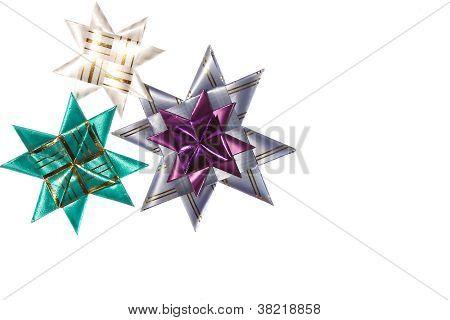 Three Origami Stars From Ribbon