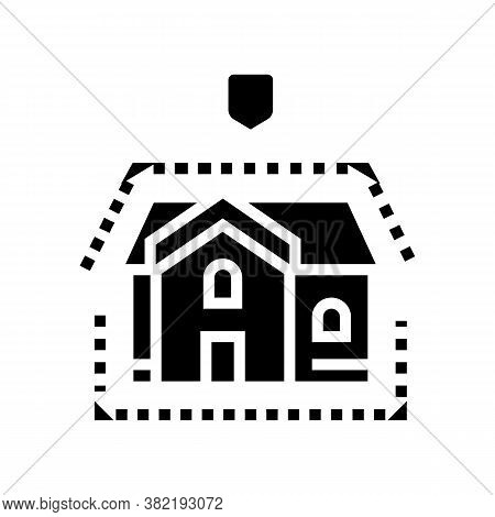 House Insulation Glyph Icon Vector. House Insulation Sign. Isolated Contour Symbol Black Illustratio