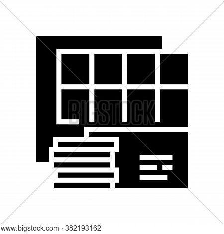 Insulation Panels Glyph Icon Vector. Insulation Panels Sign. Isolated Contour Symbol Black Illustrat