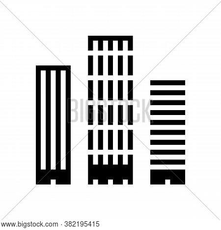 Skyscraper Buildings Glyph Icon Vector. Skyscraper Buildings Sign. Isolated Contour Symbol Black Ill