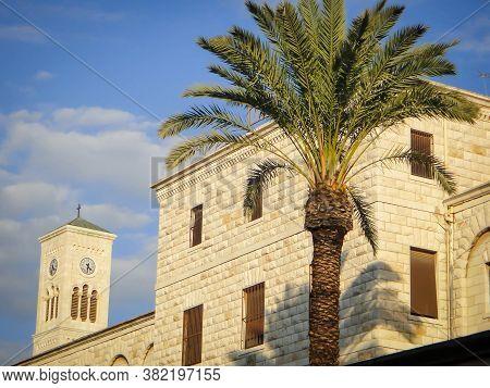 Amazing Basilica Of Annunciation In Nazareth, Israel