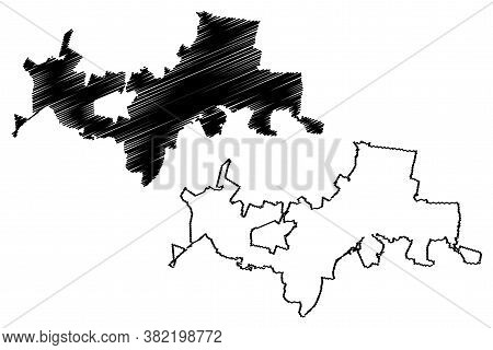 Tlaquepaque City (united Mexican States, Mexico, Free And Sovereign State Of Jalisco) Map Vector Ill