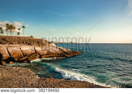 Hotels On Steep Rocky Shores Of The Atlantic Ocean, Luxury Hotel On The Rocky Coast Of The Atlantic
