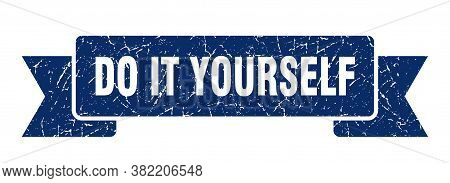 Do It Yourself Ribbon. Do It Yourself Grunge Band Sign. Banner