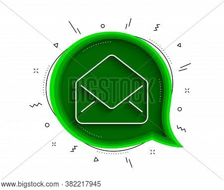 Mail Line Icon. Chat Bubble With Shadow. Message Correspondence Sign. E-mail Symbol. Thin Line Mail