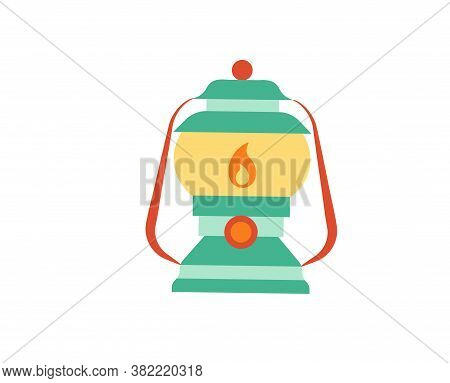 Isolated Lantern Camping Implements Emoji Icon - Vector