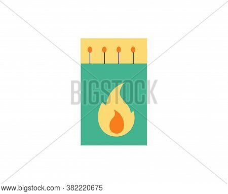 Isolated Matchstick Camping Implements Emoji Icon - Vector