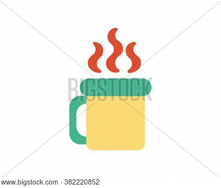 Isolated Coffee Camping Implements Emoji Icon - Vector