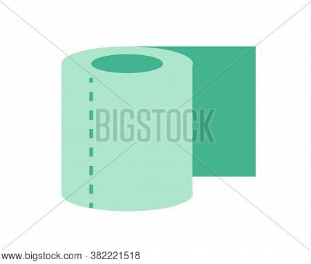 Isolated Toilet Paper Camping Implements Emoji Icon - Vector