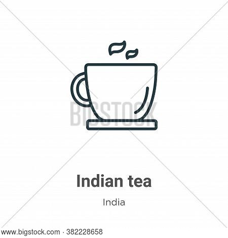 Indian tea icon isolated on white background from india collection. Indian tea icon trendy and moder