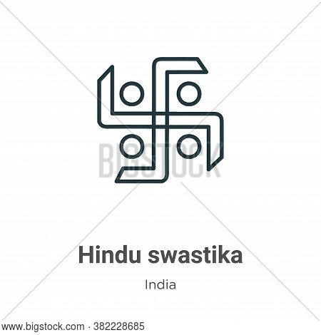 Hindu swastika icon isolated on white background from india collection. Hindu swastika icon trendy a