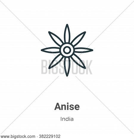 Anise icon isolated on white background from india collection. Anise icon trendy and modern Anise sy