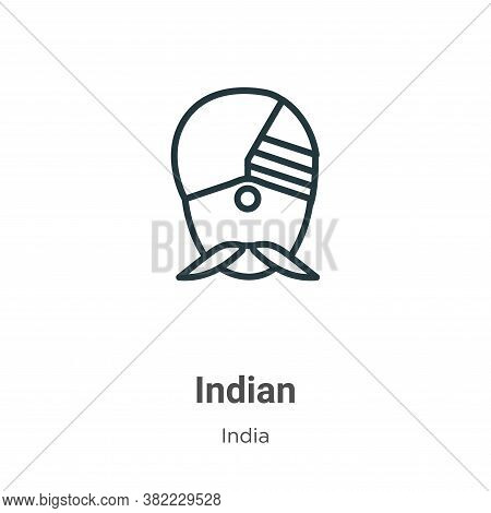 Indian icon isolated on white background from india collection. Indian icon trendy and modern Indian