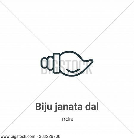 Biju janata dal icon isolated on white background from india collection. Biju janata dal icon trendy