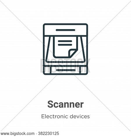 Scanner icon isolated on white background from electronic devices collection. Scanner icon trendy an