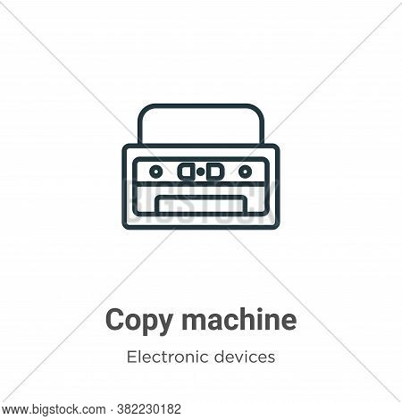 Copy machine icon isolated on white background from electronic devices collection. Copy machine icon