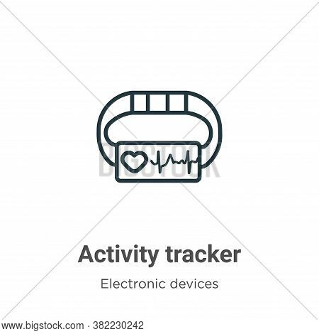 Activity tracker icon isolated on white background from electronic devices collection. Activity trac