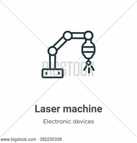 Laser machine icon isolated on white background from electronic devices collection. Laser machine ic
