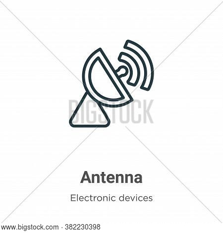 Antenna icon isolated on white background from electronic devices collection. Antenna icon trendy an