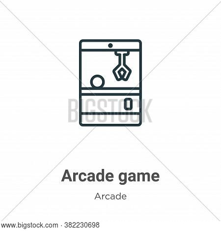 Arcade game icon isolated on white background from entertainment collection. Arcade game icon trendy
