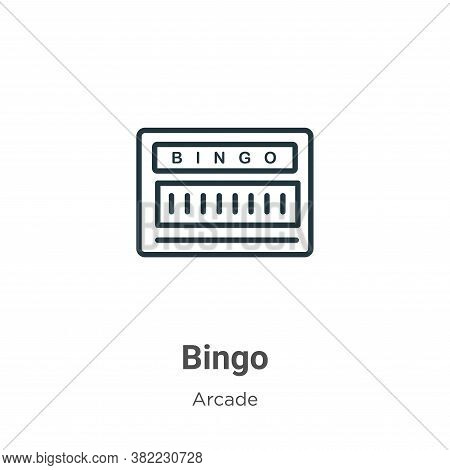 Bingo icon isolated on white background from entertainment collection. Bingo icon trendy and modern