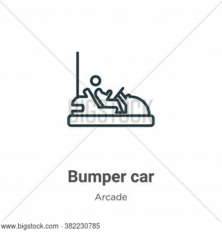 Bumper car icon isolated on white background from entertainment collection. Bumper car icon trendy a