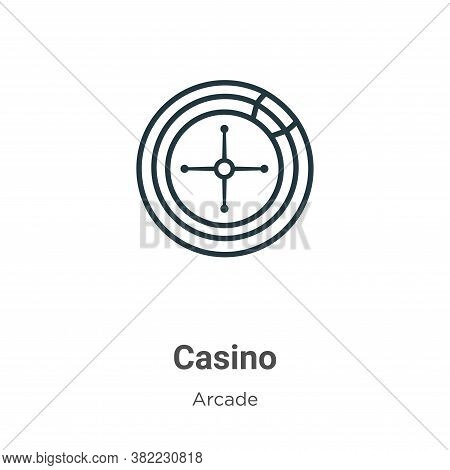 Casino icon isolated on white background from arcade collection. Casino icon trendy and modern Casin