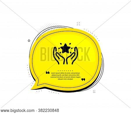 Ranking Icon. Quote Speech Bubble. Holding Star Sign. Best Rank Symbol. Quotation Marks. Classic Ran