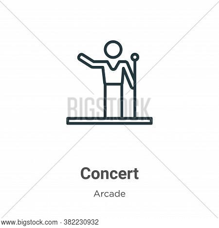 Concert icon isolated on white background from entertainment collection. Concert icon trendy and mod