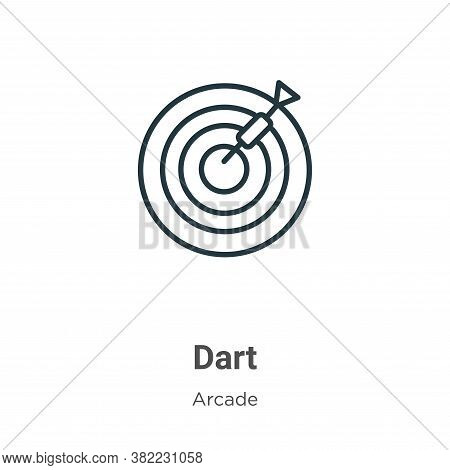 Dart icon isolated on white background from arcade collection. Dart icon trendy and modern Dart symb