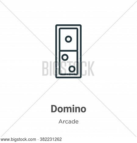 Domino icon isolated on white background from arcade collection. Domino icon trendy and modern Domin