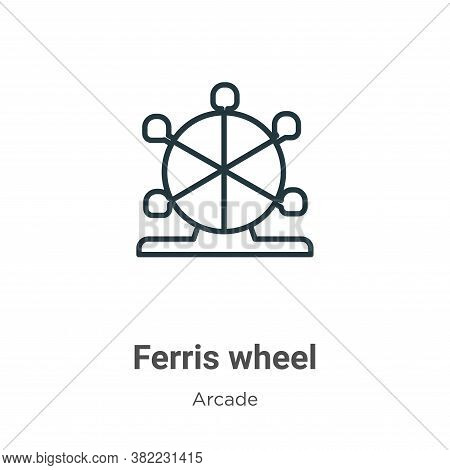 Ferris wheel icon isolated on white background from entertainment collection. Ferris wheel icon tren