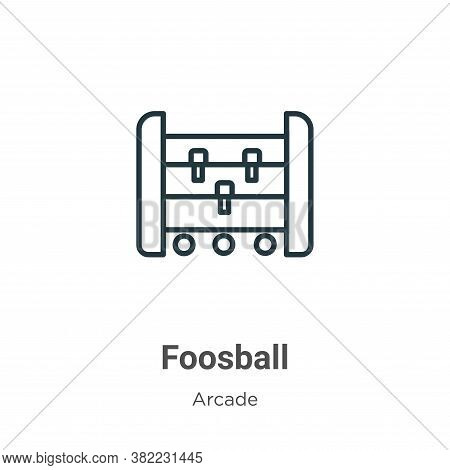 Foosball icon isolated on white background from arcade collection. Foosball icon trendy and modern F