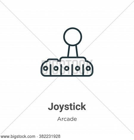 Joystick icon isolated on white background from entertainment collection. Joystick icon trendy and m