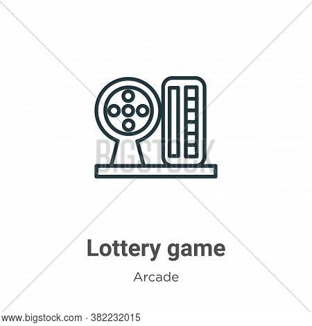 Lottery game icon isolated on white background from arcade collection. Lottery game icon trendy and