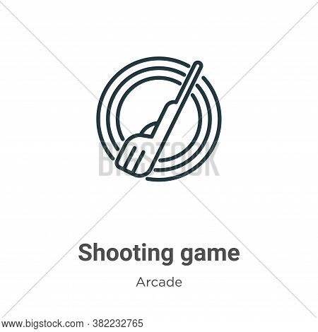 Shooting game icon isolated on white background from arcade collection. Shooting game icon trendy an