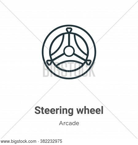 Steering wheel icon isolated on white background from entertainment collection. Steering wheel icon