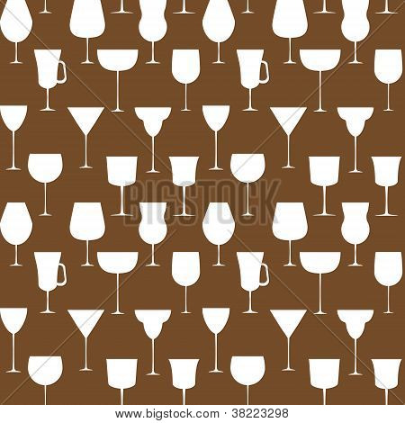Alcoholic glass seamless pattern. Vector illustration. EPS 10.