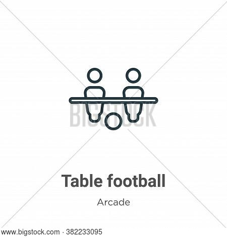 Table football icon isolated on white background from entertainment collection. Table football icon