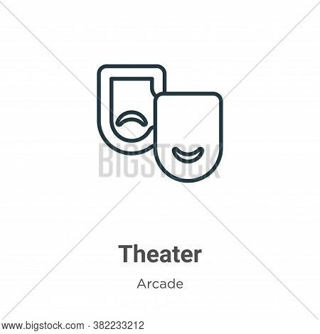 Theater icon isolated on white background from entertainment collection. Theater icon trendy and mod