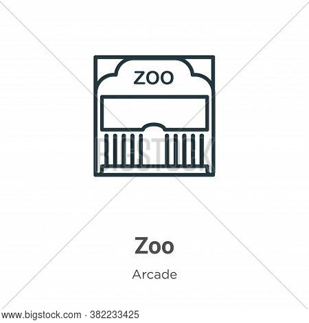Zoo icon isolated on white background from entertainment collection. Zoo icon trendy and modern Zoo