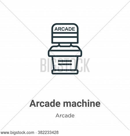 Arcade machine icon isolated on white background from entertainment collection. Arcade machine icon