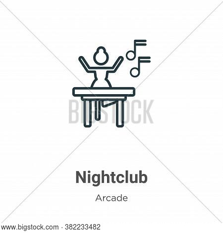 Nightclub Icon From Entertainment Collection Isolated On White Background.