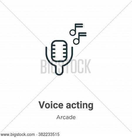 Voice Acting Icon From Entertainment Collection Isolated On White Background.