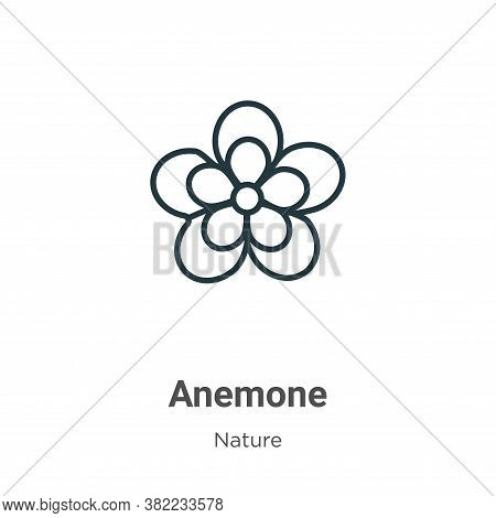Anemone icon isolated on white background from nature collection. Anemone icon trendy and modern Ane