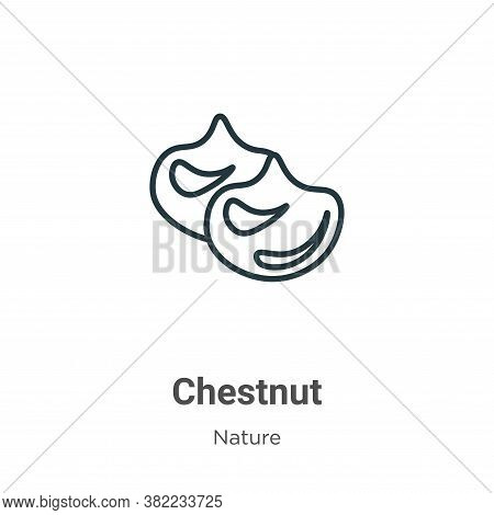 Chestnut Icon From Nature Collection Isolated On White Background.