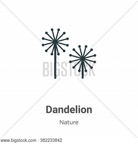 Dandelion icon isolated on white background from nature collection. Dandelion icon trendy and modern