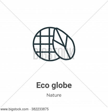 Eco globe icon isolated on white background from nature collection. Eco globe icon trendy and modern